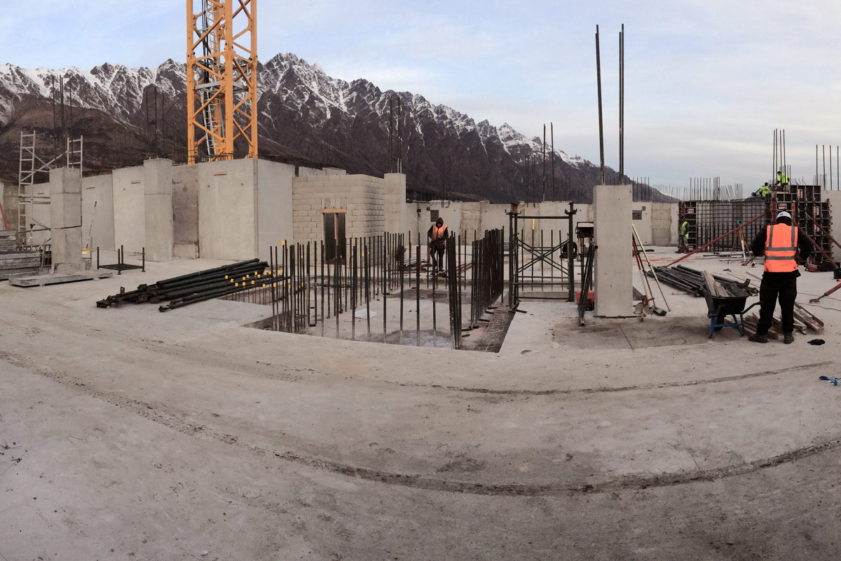 Construction site Queenstown, by Experienced Commercial Builder Niche Design & Construction